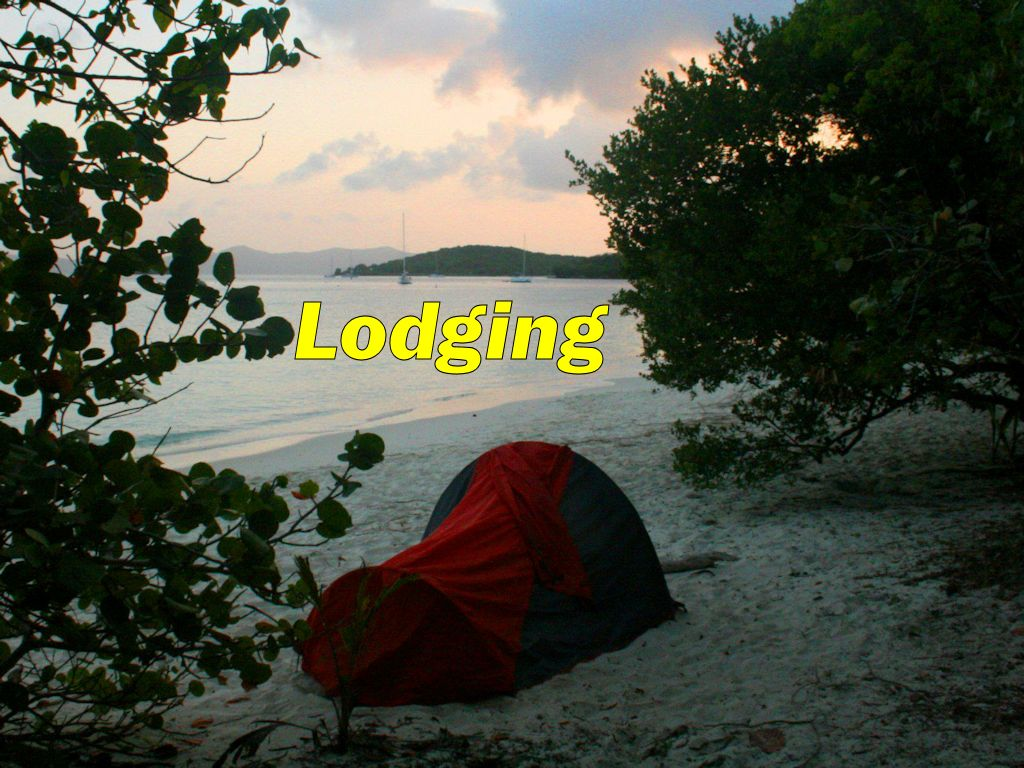 Campsites, Hostels and Cheap Accommodations