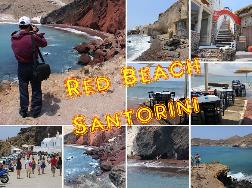 Red Beach and Akrotiri, Santorini