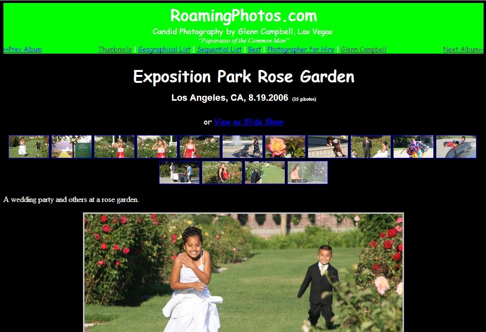 Exposition Park Rose Garden, Los Angeles (Aug. 2006)