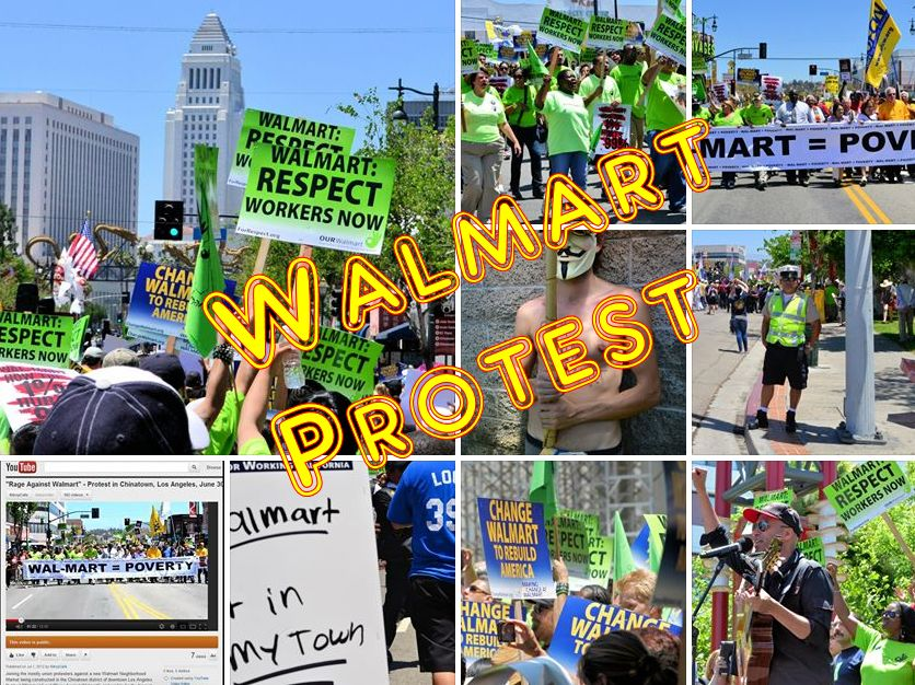 Walmart Protest, Chinatown, Los Angeles