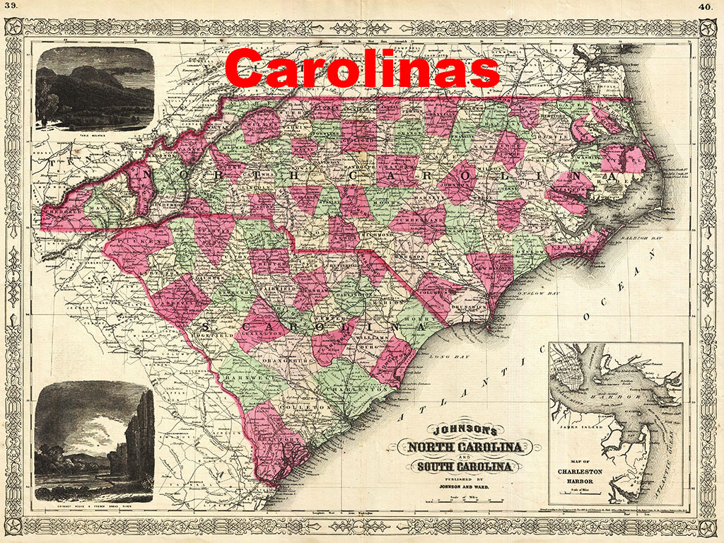 why is there a north and south carolina