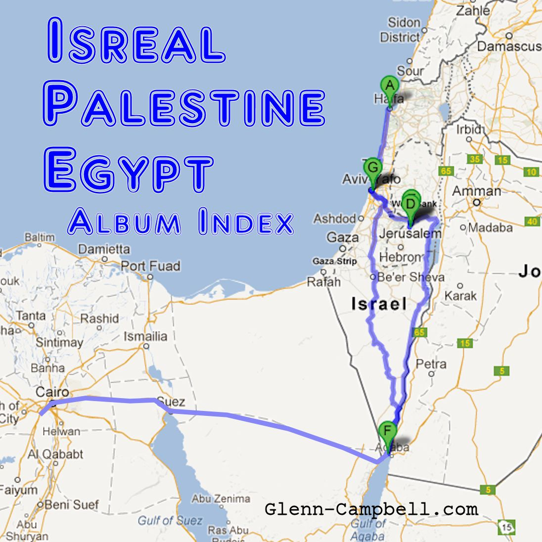 Middle East Album Index - Photo Album by Glenn Campbell
