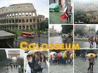 Colosseum and Forum in Rome, Italy