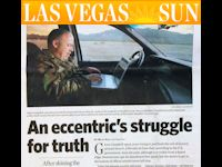 Glenn in the Las Vegas Sun, 2005: An Eccentric's Struggle for Truth.